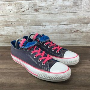 Converse All Star Low Top Womens 9 Pink Gray